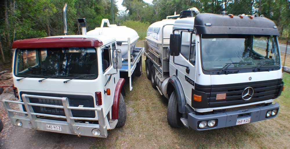 Pomoma Water trucks